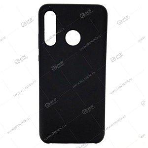 Силикон Huawei Honor Nova 3I матовый черный с глянцевым ободом