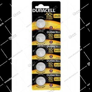 Элемент питания Duracell CR2025/5BL (EU)