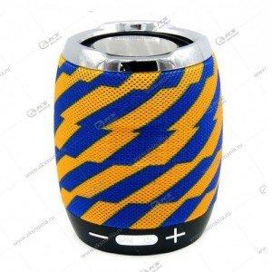 Колонка портативная Charge G13 BT TF FM желто-синий узор
