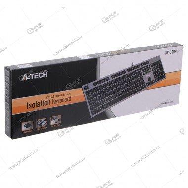 Клавиатура A4Tech KV-300H Slim USB, серый/черный