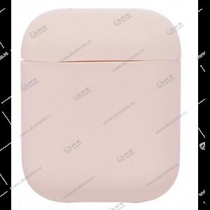 Силиконовый чехол для AirPods Case Protection пудровый
