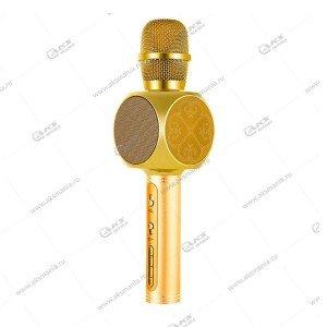 Беспроводной караоке микрофон YS-63 золотой