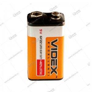 Элемент питания Videx  6F22/9V крона 1 SHRINK (24/480)