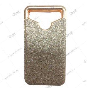 Силикон универсальный с пластиком 4,5-4,7 блестки золотой