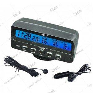 Часы автомобильные+вольтметр VST-7045V