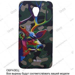 Пластик Samsung S4/i9500 камуфляж с оленем