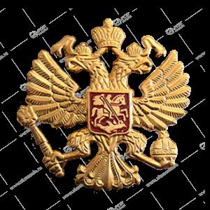 "Наклейка ""Герб"" металл (на чехол, сумку, ежедневник и др), золото"