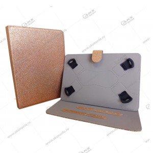 Чехол для планшета на скобках 7-8 блёстки золото