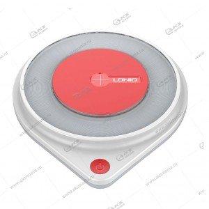 Беспроводное ЗУ LDNIO/ Вход: 5V, 9V-2A, 12V-1,5A/ Выход: 10W/ Led подсветка/White-Red