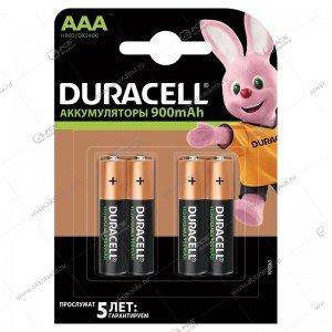 Элемент питания аккумулятор Duracell R3 (AAA) 900 mAh/4BL