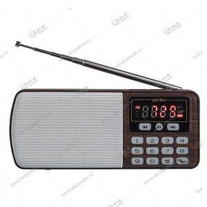 Колонка портативная Perfeo ЕГЕРЬ i120 FM+ 70-108МГц/ MP3/ питание USB или BL5C коричневый