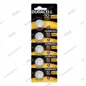 Элемент питания Duracell CR2032/5BL (EU)