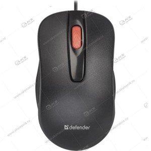Мышь проводная Defender Point MM-756 черный