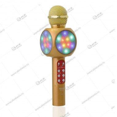 Беспроводной караоке микрофон WS-1816 золотой
