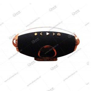 Колонка портативная F2 FM BT TF USB с подсветкой черный