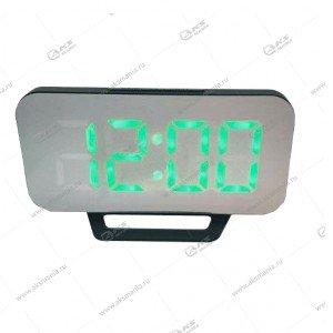 Часы настольные DS-3625L черно/зеленый