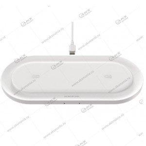 Беспроводное зарядное устройство Borofone BQ7 Prominent dual 10W wireless fast charger белый