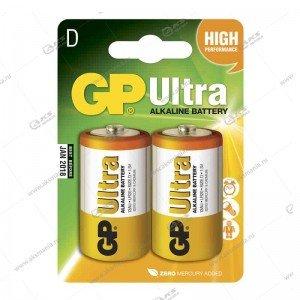 Элемент питания GP LR20/2BL Ultra