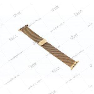 Ремешок миланская петля для Apple Watch 38mm/ 40mm бронзовый