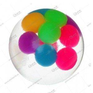 Антистресс жмякалка с шариками светящаяся круглая