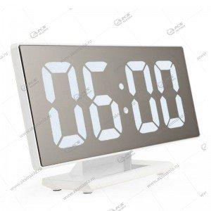 Часы настольные DS-3618L бело/белый