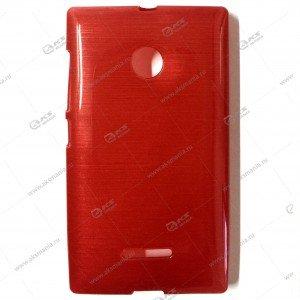 Пластик Samsung S4/i9500 карамель красный