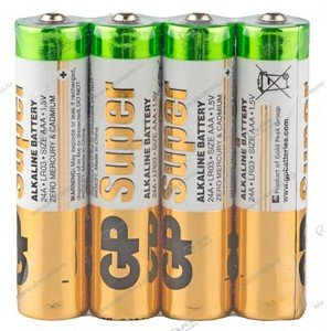 Элемент питания GP AAA LR03/4SH Super Alkaline