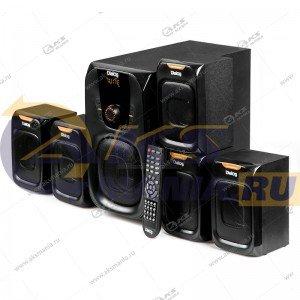 Акустические колонки AP-505 BLACK Dialog Progressive, 5.1, 45W+5*7W RM,  USB+SD reader