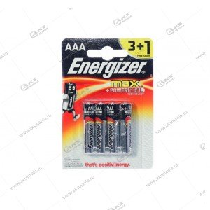 Элемент питания Energizer AAA LR03 Max/4BL