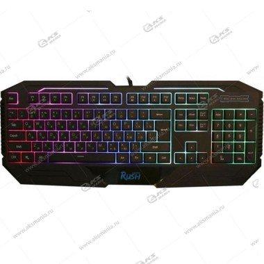 Клавиатура Smartbuy RUSH 304, USB, игровая, 1,6м, черная