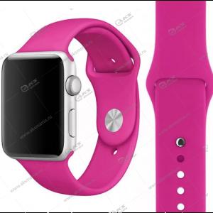 Ремешок силиконовый для Apple Watch 42mm/ 44mm малиновый