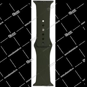 Ремешок силиконовый для Apple Watch 42mm/ 44mm темно-зеленый