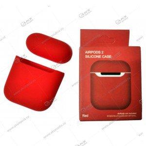 Силиконовый чехол для Airpods 2 Red