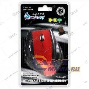 Мышь беспроводная Smartbuy SBM-613AG черн/красный