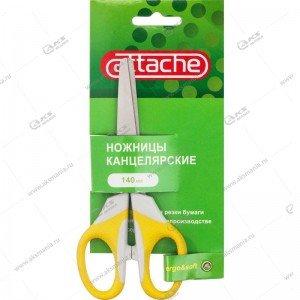 Ножницы Attache Ergo&Soft 180мм с резиновыми ручками, цвет желтый
