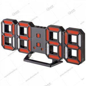 Часы Perfeo Luminous 2 PF-6111 черный корпус / красная подсветка