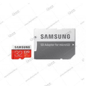 Карта памяти 32GB microSDXC class 10 Samsung Evo Plus с адаптером