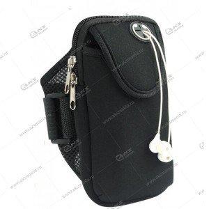 Спортивная чехол-сумка для бега для телефона на руку №2 черный