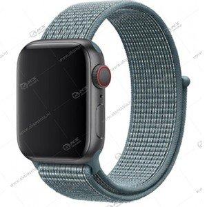 Ремешок нейлоновый для Apple Watch 38mm/ 40mm светло-синий