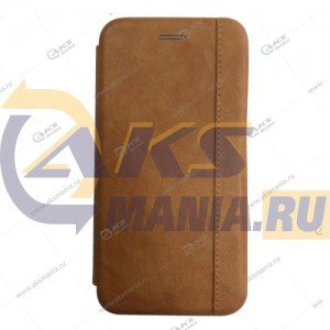 Книга горизонтальная Huawei Honor 10I свет.коричневый Nice Case
