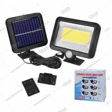 Автономный уличный светодиодный светильник YG-1328 с датчиком движения+солнечная панель