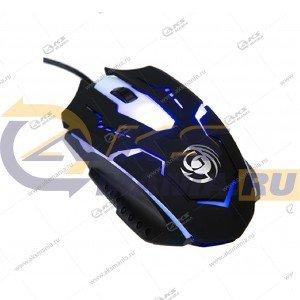 Мышь проводная MGK-05U Dialog Gan-Kata - игровая, 6 кнопок + ролик прокрутки, USB, чёрная