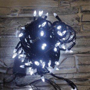 Гирлянда черный провод диод в виде конуса 200LED 15м белый