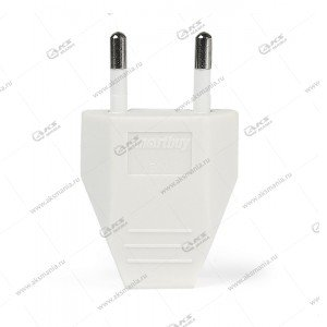 Вилка Smartbuy плоская белая 2.5A 250В (SBE-2.5-P06-w)