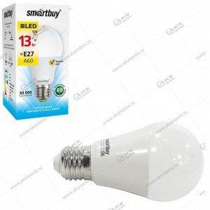 Лампа светодиодная Smartbuy A60-13W-220V-3000К-E27 (теплый свет)