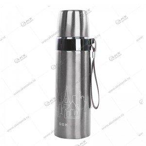 Термос 500мл Pure Healthy Happy серебро