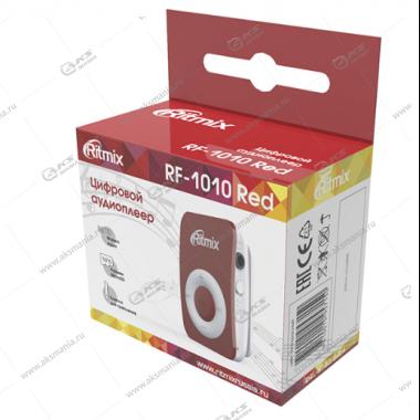 MP3 Плеер RITMIX RF-1010 красный, MicroSD/MicroSDHC (до 16 Гб), MP3, WMA
