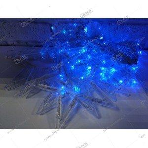 """Гирлянда штора """"Звёзды"""" силиконовый провод в коробке синий"""