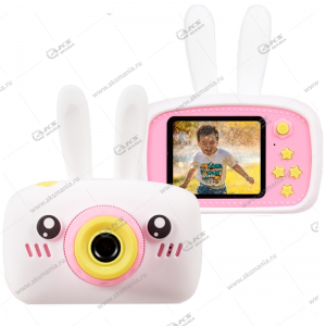 Детский фотоаппарат Zoo Kids Camera заяц белый