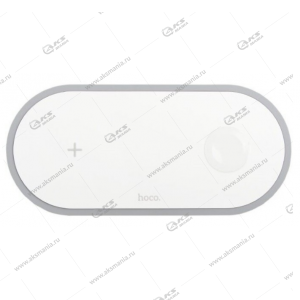 Беспроводное зарядное устройство Hoco CW20 Wisdom 2-in-1  белый